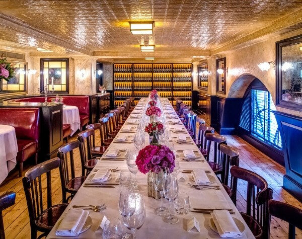 The Private Dining Room at Balthazar in Covent Garden is available for lunch or dinner