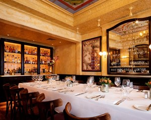 Private dining and bar available at Balthazar in Covent Garden