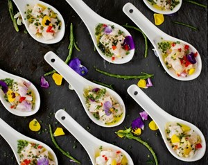 Balthazar's canapés available for private parties