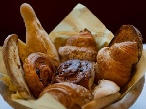 Viennoiserie available for brunch at Balthazar in Covent Garden